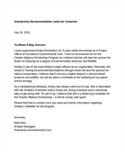 letter of recommendation for coworker 11 coworker recommendation letter templates pdf doc