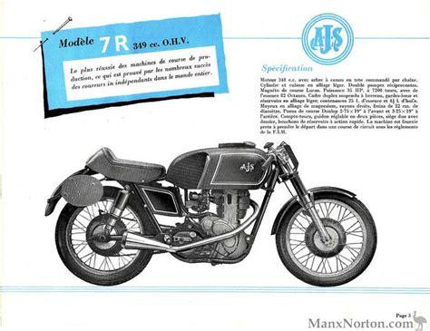 ajs 1956 7r catalogue