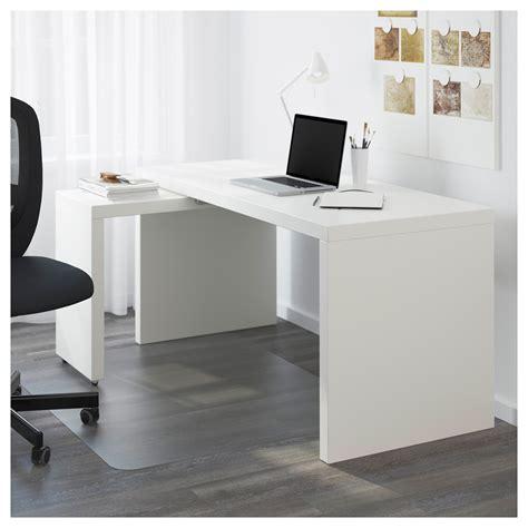 bureau tablette coulissante malm bureau avec tablette coulissante blanc 151x65 cm ikea