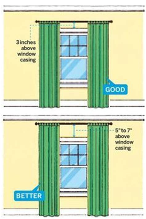 25 best ideas about hanging curtain rods on