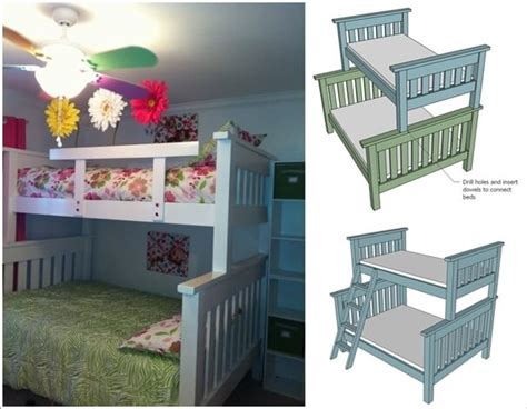 cool diy bunk bed designs  kids