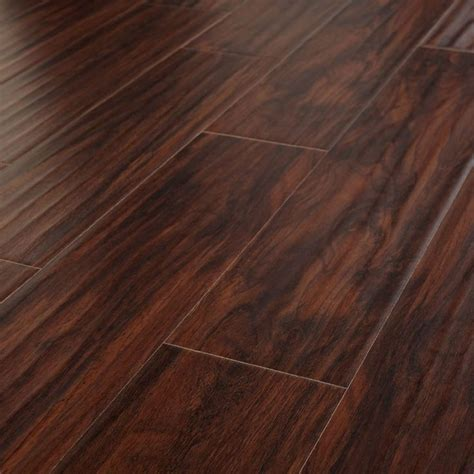 proof wood floors hank hand scraped hickory flooring from evoke this is the nicest fake flooring i ve ever used