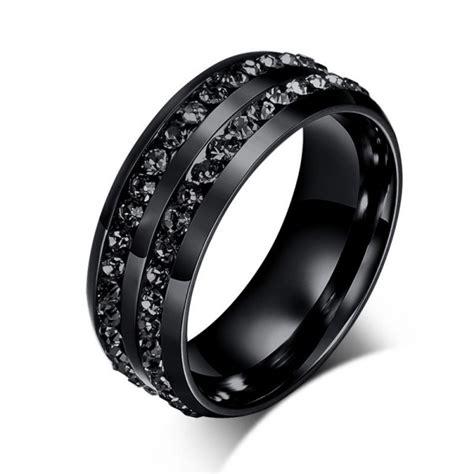 Jeulia Created Round Cut Created Black Diamond Titanium
