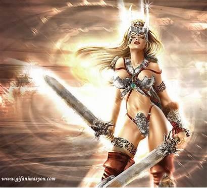 Fantasy Warrior Femme Woman Gifs Lopez Jennifer