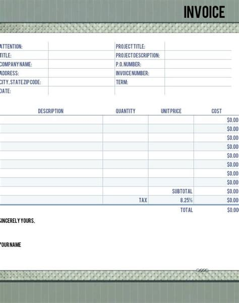 timeless legal invoice template  numbers  iwork