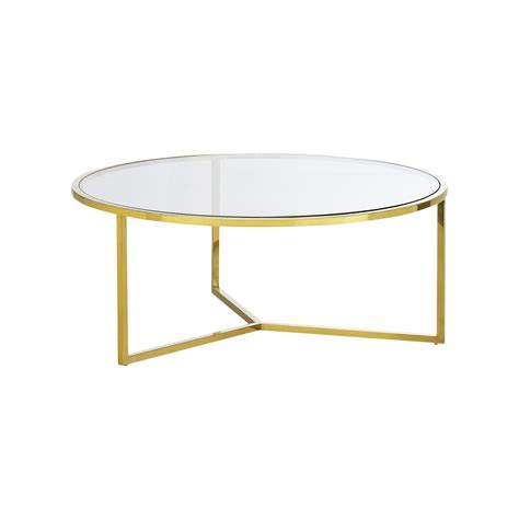 Round corner bent glass coffee table with beveled edge. Bianka Tempered Glass & Stainless Steel Round Coffee Table, 100cm