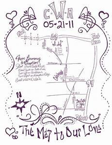diy invitation map weddingbee With wedding invitation map maker free