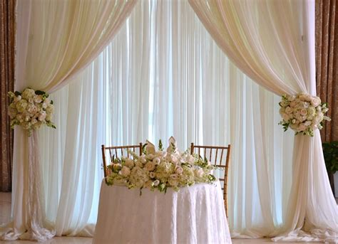 Wedding Sweetheart Table Backdrop Chez Rose Floral