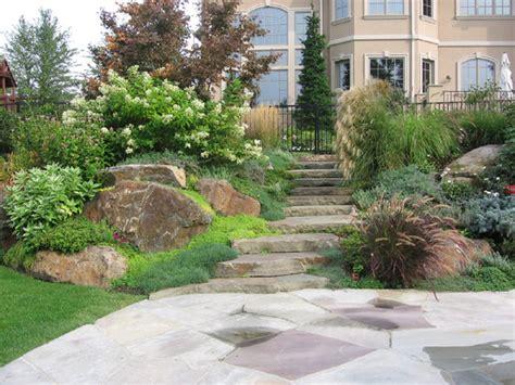 natural landscape design patio traditional landscape