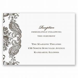 rustic lace reception card invitations by dawn With images of wedding reception cards