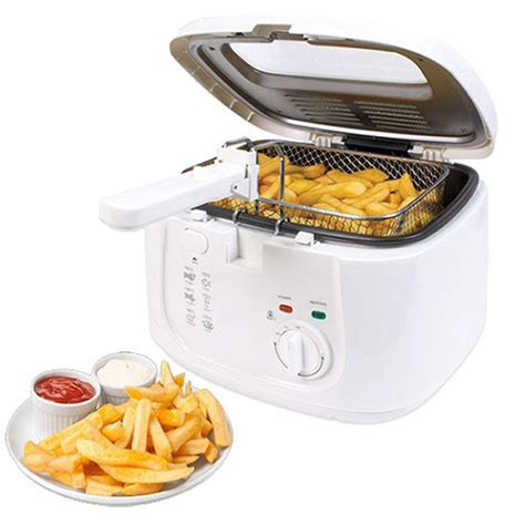 chip fryer deep fat pan electric basket non stick handle 5l safe window fryers kitchen grasso friggitrice antiaderente profonda maniglia