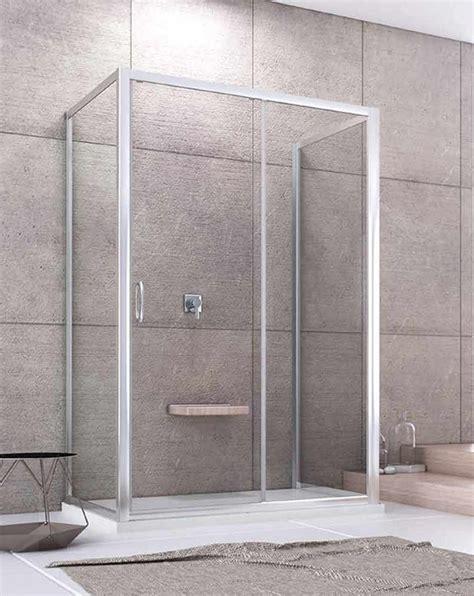 box doccia vetro temperato box doccia a penisola 1 anta scorrevole h 185 cm vetro