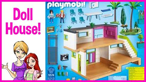 playmobil city life modern doll house review youtube