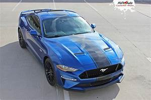 HYPER RALLY : Ford Mustang Rally Stripes Center Wide Racing Decals Vinyl Graphics Kit fits 2018 ...