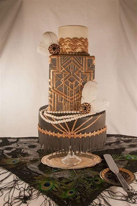art deco wedding cakes    roar