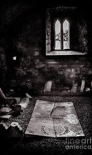A tombstone in Sligo Abbey BW Photograph by RicardMN ...