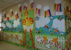 classroom spring door hallway decoration classroom