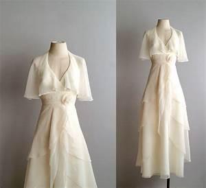 70s wedding dress 1970s chiffon bridal gown by With 1970s wedding dress