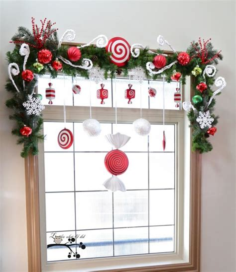 diy christmas window decorations 15 christmas window decoration with wreaths and garlands house design and decor