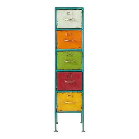 meuble de rangement chambre garcon colonne de rangement en métal multicolore h 128 cm mojito