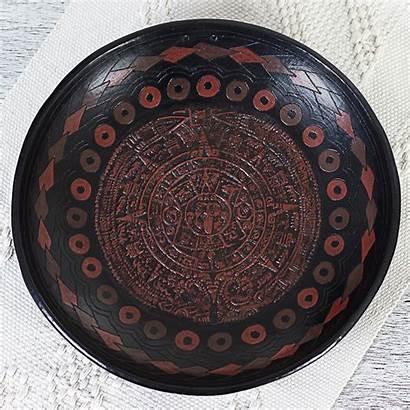 Aztec Calendar Ceramic Decorative Crafted Hand Plate