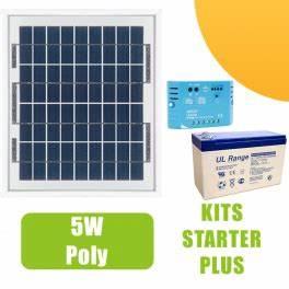 Régulateur Pour Panneau Solaire : kit panneau solaire 5w 12v avec r gulateur 5a et batterie 58 50 starter kits solaires ~ Medecine-chirurgie-esthetiques.com Avis de Voitures