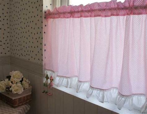 country kitchen cafe curtains country pink polka dot cafe kitchen curtain 001 ebay