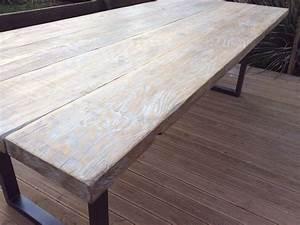 Table Bois Pied Blanc : designbois ~ Teatrodelosmanantiales.com Idées de Décoration