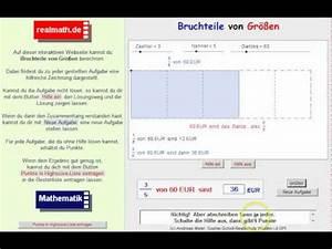 Bruchteile Von Größen Berechnen : bruchteile von gr en berechnen veranschaulichung auf youtube ~ Themetempest.com Abrechnung