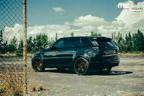 Out Range Rover blacked out range rover sport by mc customs