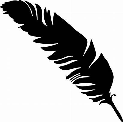 Feather Silhouette Simple Feathers Clipart Transparent Silhouettes