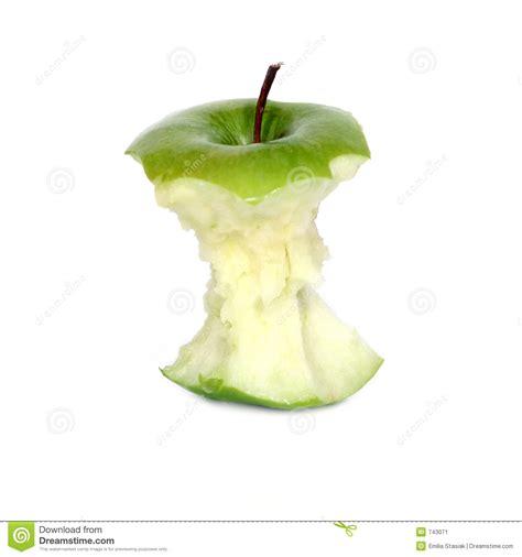 Green apple core stock image. Image of juicy, juice ...