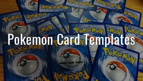 pokemon card templates psd ai  premium templates