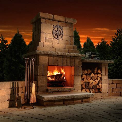 Necessories Colonial Outdoor Fireplace   Fireplaces