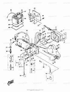 Kawasaki Jet Ski 1988 Oem Parts Diagram For Electric Case