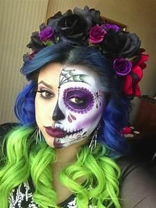Idée Pour Halloween : id es de coiffure pour halloween id e maquillage pour hallowen coiffure simple et facile ~ Melissatoandfro.com Idées de Décoration