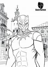Panther Coloring Marvel Printable Comics Character Tsgos Printables Comic Cartoon Drawing Books Superhero sketch template