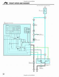 Headlight Washer Switch Relay  And Pump Wiring Diagram