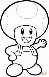 Coloring Pages Mario Toad Super Printable Bros sketch template