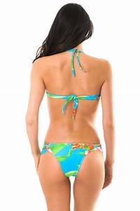 Maillot De Bain A Fleur : maillot de bain bandeau bleu fleurs aloha bandeau franzida ~ Nature-et-papiers.com Idées de Décoration