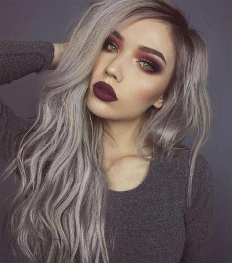 grey ombre hair ideas herinterestcom