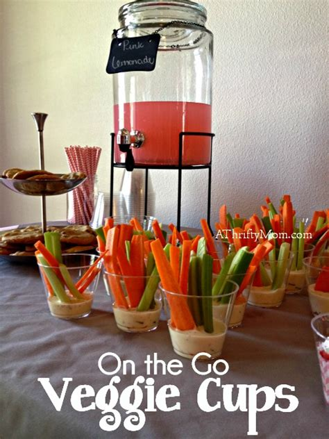 veggie cups finger food  simple party