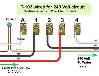 electrical wiring t 103 wired circuit intermatic digital