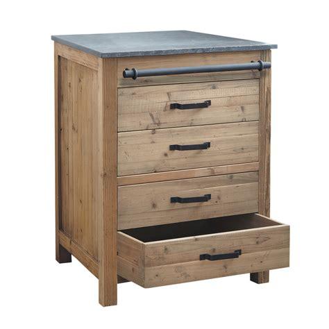 meubles de cuisine bas meuble bas de cuisine en bois recyclé l 70 cm pagnol