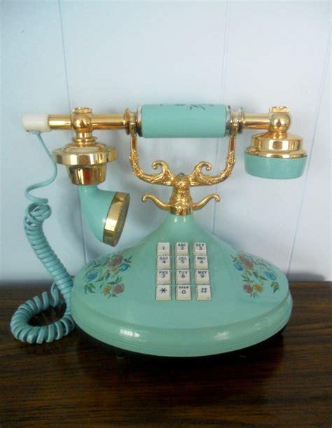 Vintage Push Button Princess Phone Blue