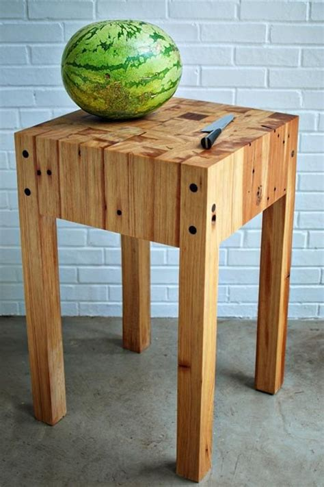 Items Similar To Reclaimed Heart Pine Butcher Block Table