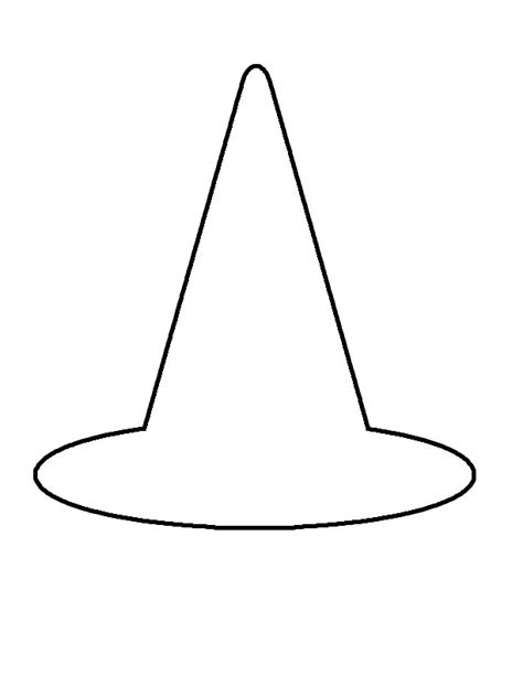 witch hat template witch hat clipart black and white clipartxtras