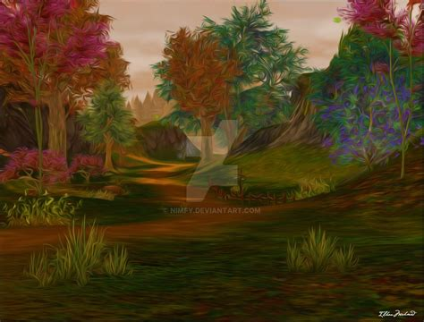 aion forest 2 painting by nimfy