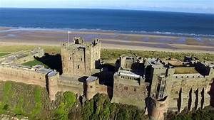Drone footage of Bamburgh Castle - YouTube