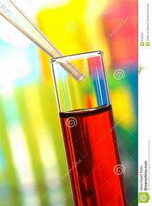 Laboratory Experiment In Science Research Lab Stock Image